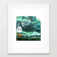 porsche Framed Art Prints featuring Porsche by Alex Marsh King