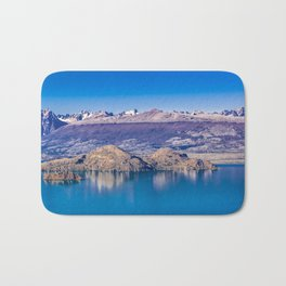 Lake and Mountains Landscape, Patagonia, Chile Bath Mat