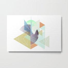 Midcentury geometric abstract nr. 001 Metal Print