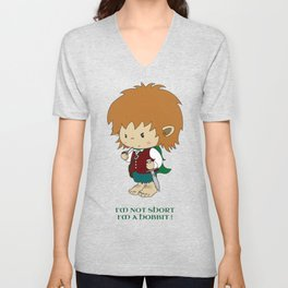 I'm not short, I'm a hobbit Unisex V-Neck