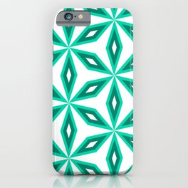 Diamonds and flowers iPhone Case