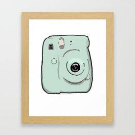 Instax Green Camera Framed Art Print