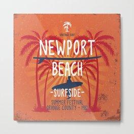 Newport Beach Surfside Metal Print