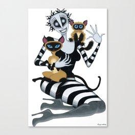 Fräulein and the Felines Canvas Print