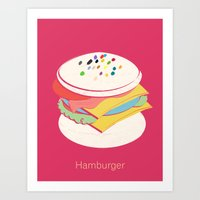 hamburger Art Prints featuring Hamburger by Haina