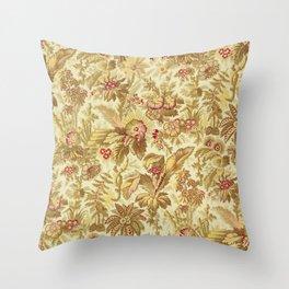 Vintage Palm Tree Floral Print, 1880 Throw Pillow