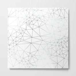 Cracked Ice - Graphic Metal Print
