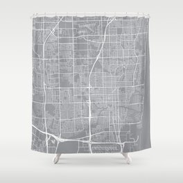 Fort Lauderdale Map, Florida USA - Pewter Shower Curtain