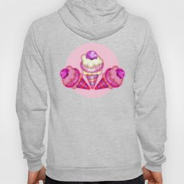"""""""Strawberry ice cream for the boy and the girl"""" Hoody"""