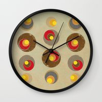 blankets Wall Clocks featuring Tendency by Metron