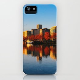 sunrise on downtown portland iPhone Case
