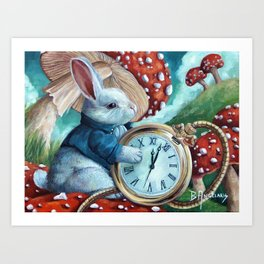 Don't Be Late Art Print