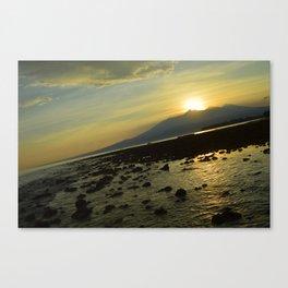 Morning Rise Low Tide Surprise Canvas Print