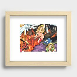The Sleepy Sins of Suzy Spreadwell no. 6: Lake of Fire Recessed Framed Print