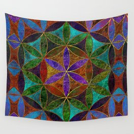 The Flower of Life (Sacred Geometry) 2 Wall Tapestry