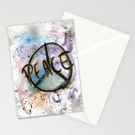 Peace Sign Art Print Stationery Cards