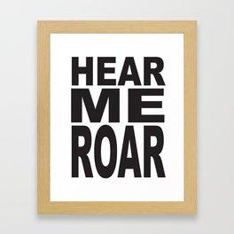HEAR ME ROAR Pop Art Framed Art Print