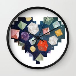 Heart of Dice Wall Clock