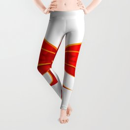 Isolated Red Ribbon Leggings
