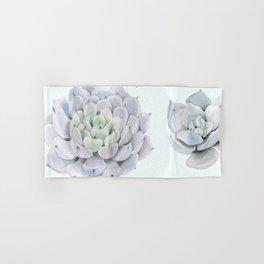 Blue Succulents Hand & Bath Towel