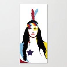 =Juliette Lewis///White= Canvas Print