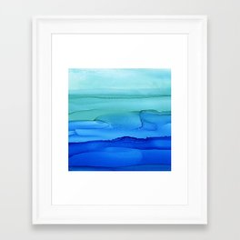 Alcohol Ink Seascape Framed Art Print