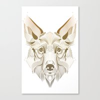 coyote Canvas Prints featuring Coyote by Kirsten Allen