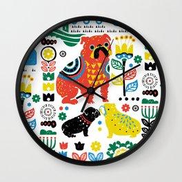 Scandinavian English Bulldog Wall Clock