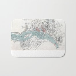 Vintage Map of Richmond Virginia (1864) Bath Mat