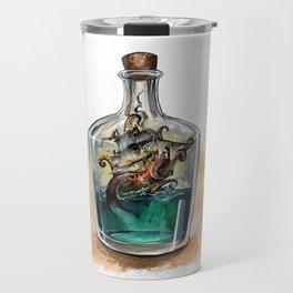 Ship in a bottle Travel Mug