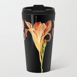 Orange Daylily Illustration Travel Mug