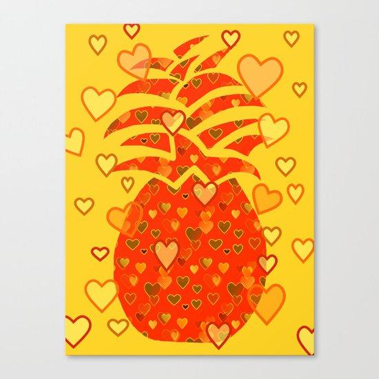 I Love Pineapple Canvas Print