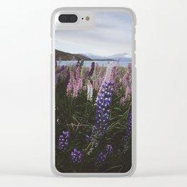 Wildflower Landscape Clear iPhone Case