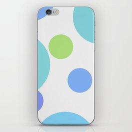 Blue Circles iPhone Skin