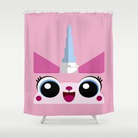 positive Shower Curtains featuring Stay Positive!  Stay Positive! by Jetfire852
