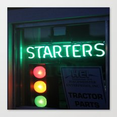 Red - Yellow - Green - Black - Starters Canvas Print