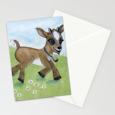 Alfie the Goat, a barnyard animal portrait Stationery Cards