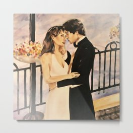 Classy couple in love Metal Print