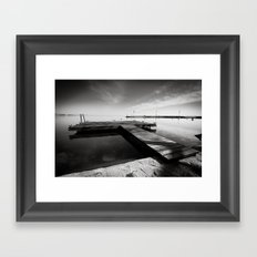 Balaton - Pier Framed Art Print