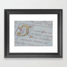 Offer Framed Art Print