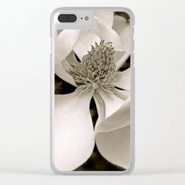 Angelic Magnolia II B&W Clear iPhone Case