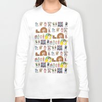 nintendo Long Sleeve T-shirts featuring Nintendo Characters by Hamburger Hands