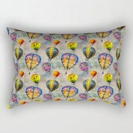 Fractal Balloons floating in a textured grey sky    Edit Rectangular Pillow