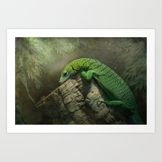 Thinking green thoughts... Art Print