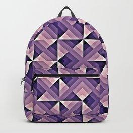 Purple Geo Pattern Backpack