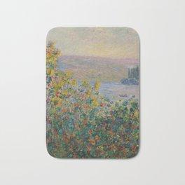 Flower Beds at Vetheuil by Claude Monet Bath Mat
