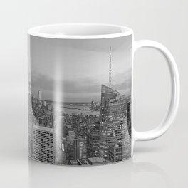 Manhattan sunset. Black and white photo Coffee Mug