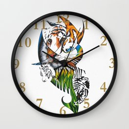 Sumatran Tiger Wall Clock