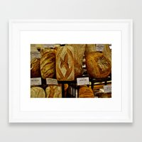 bread Framed Art Prints featuring Bread by Chris Klemens