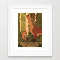 princess mononoke Framed Art Prints featuring Princess Mononoke by StrangelyKatie